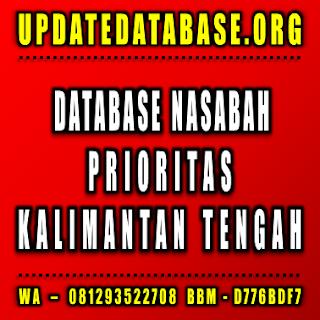 Jual Database Nasabah Kalimantan Tengah