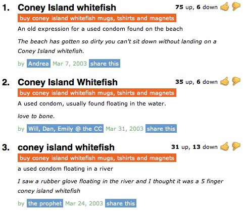 Coney Island Whitefish Meaning