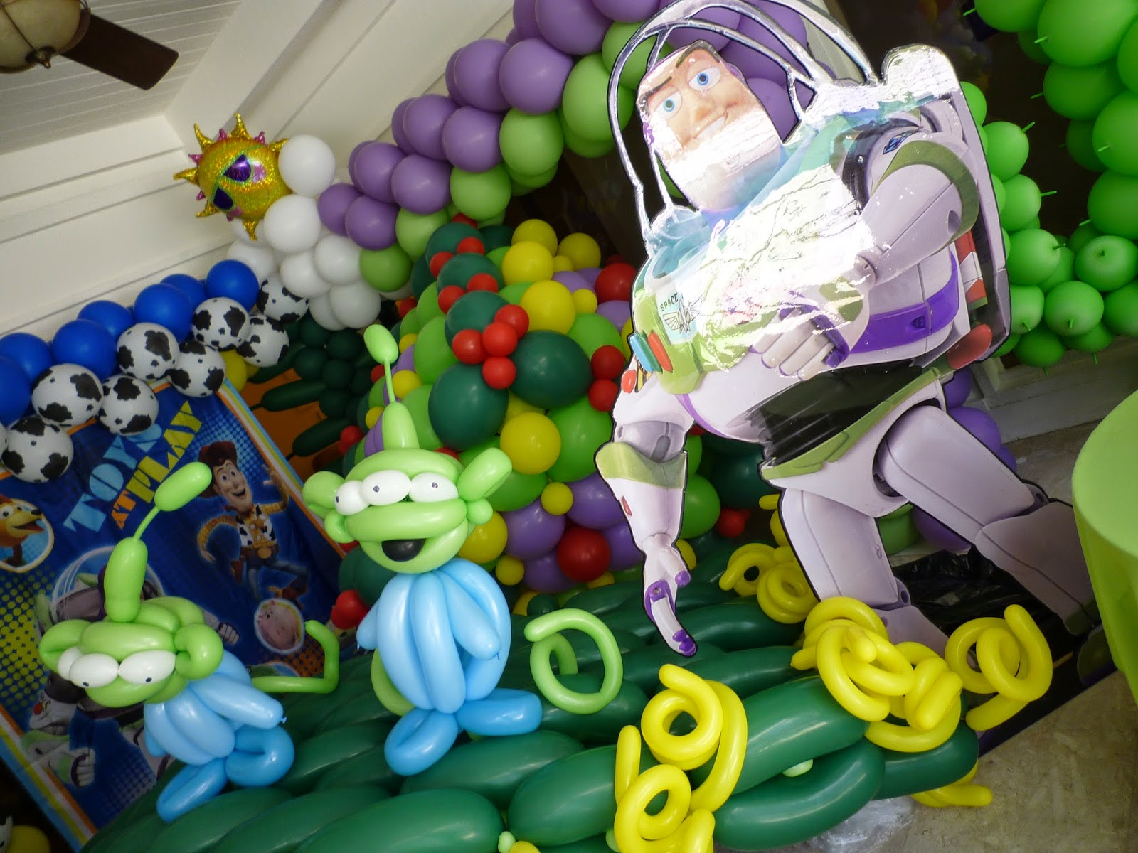 Buzz Lightyear toy story character sculpture birthday party