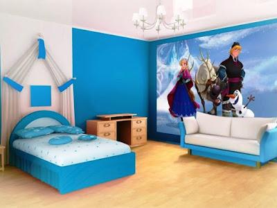 Kamar Anak Perempuan Minimalis Tema Frozen