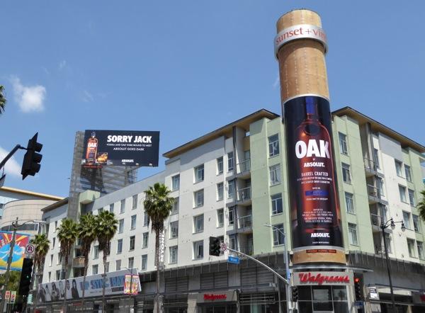 Absolut Oak Vodka billboards