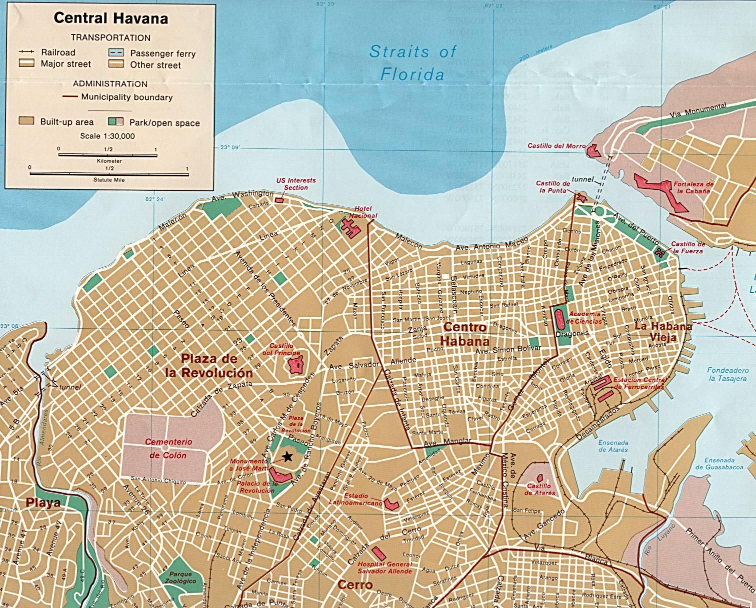 mapa de havana Mapas de Havana   Cuba   MapasBlog mapa de havana