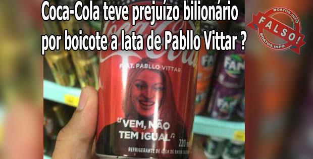 Coca-Cola teve prejuízo bilionário por boicote a lata de Pabllo Vittar - Boato