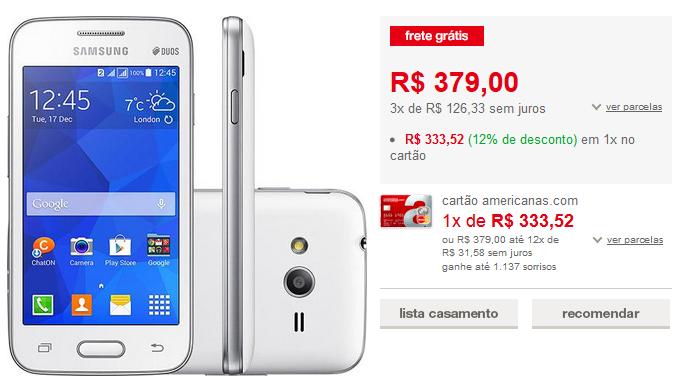 http://www.americanas.com.br/produto/124915704/smartphone-samsung-galaxy-ace-4-neo-duos-dual-chip-desbloqueado-android-4.4-tela-4-4gb-3g-3mp-branco?loja=02&opn=AFLACOM&franq=AFL-03-171644&AFL-03-171644