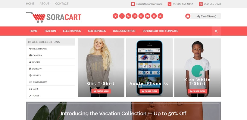 Sora Cart Free Blogger Template