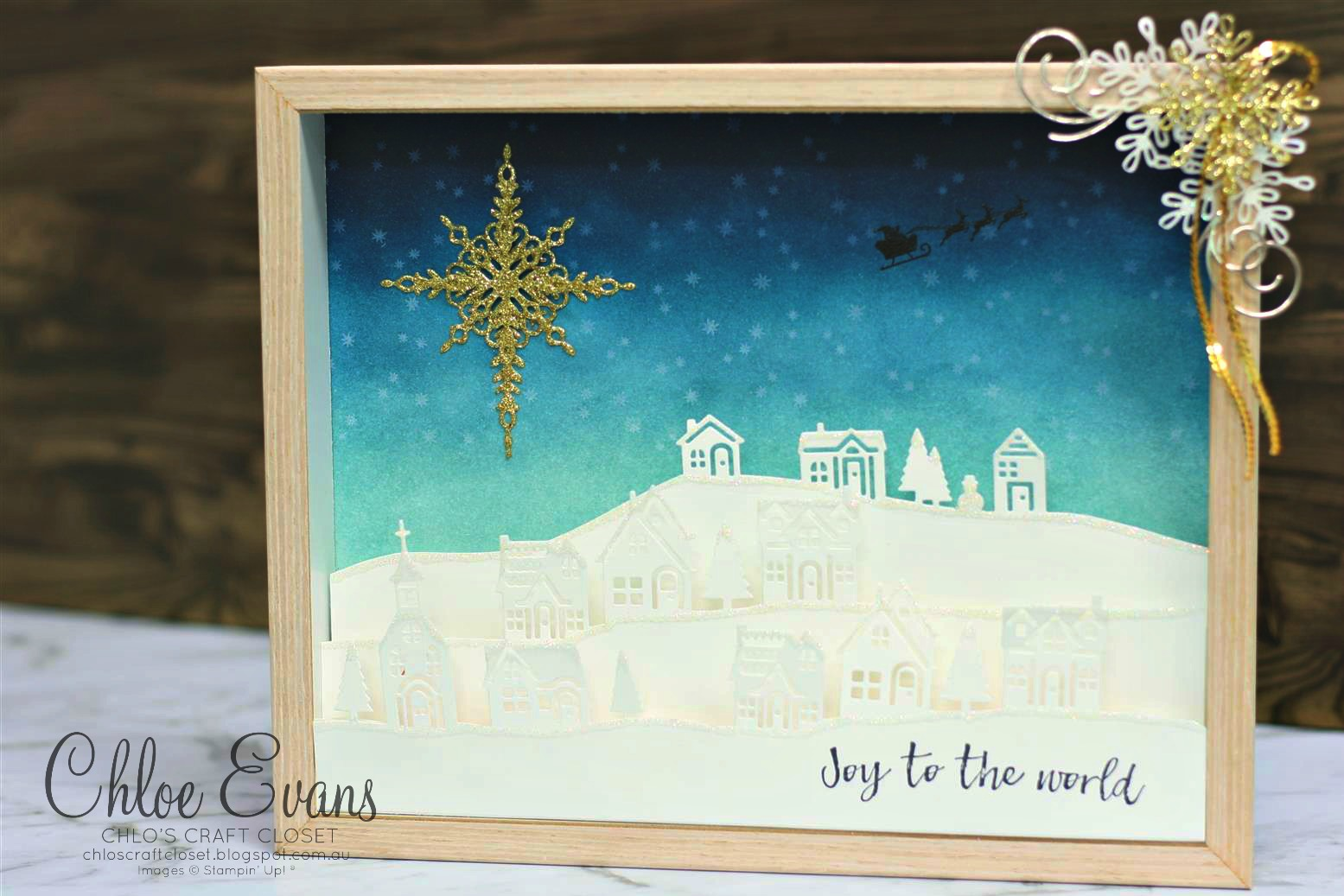 Chlos craft closet stampin up independent demonstrator its like a little winters village on the day before christmas waiting for all the excitement of christmas day but this little scene really becomes magical solutioingenieria Gallery