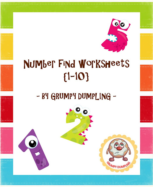 https://www.teacherspayteachers.com/Product/Number-Find-Worksheets-1-10-2175951