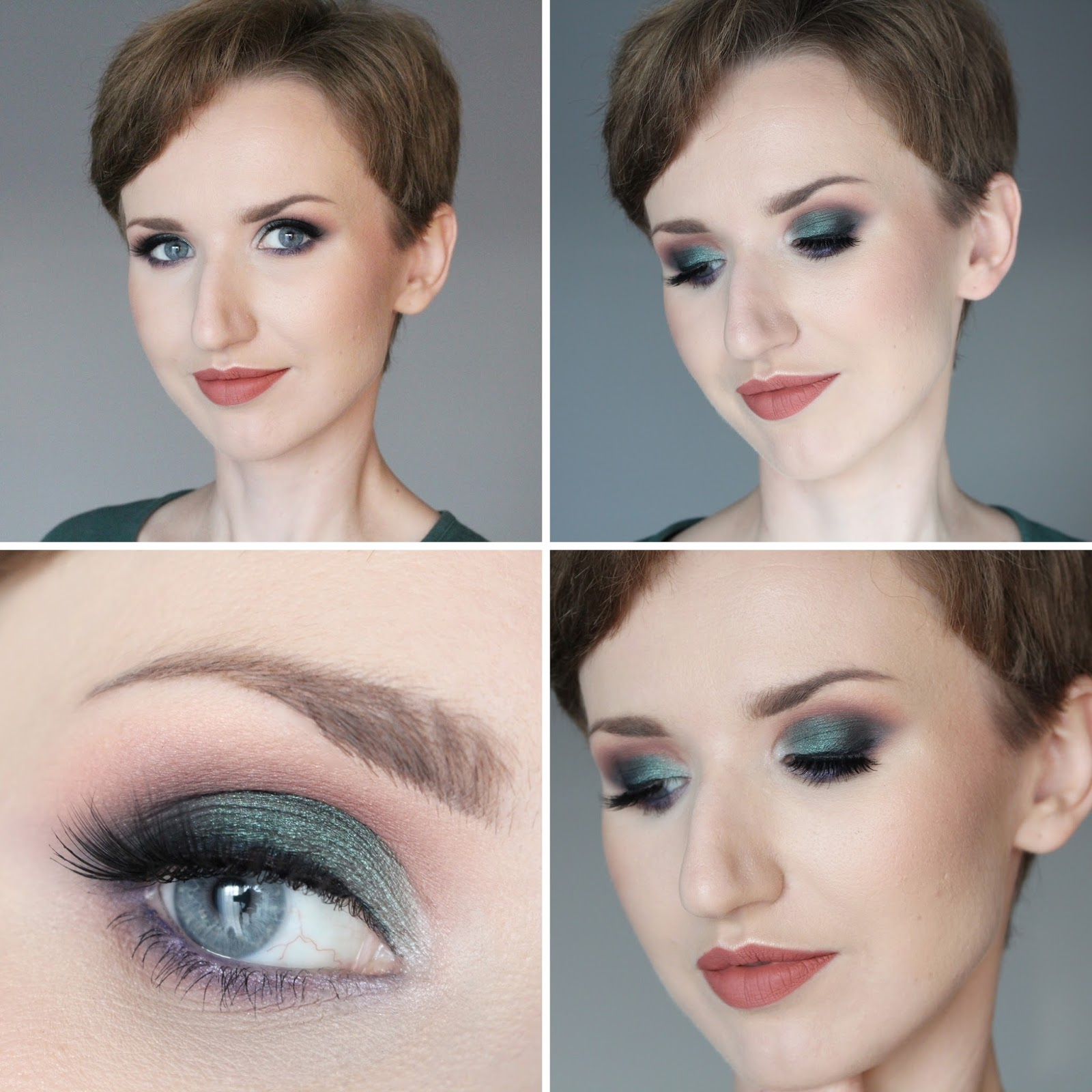 makijaż-szmaragdowy-zielony-golden-rose