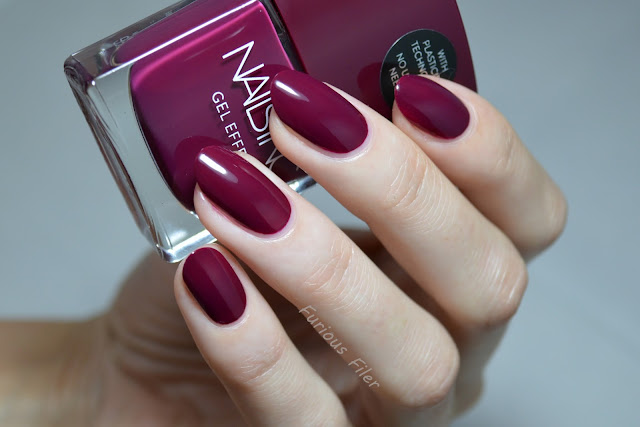 nails inc kensington high street swatch burgundy