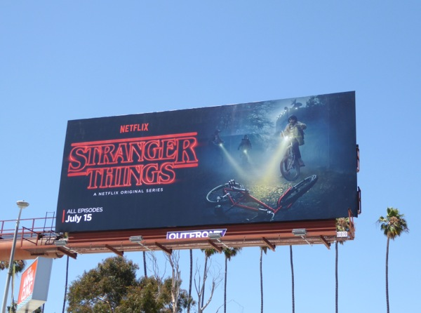 Netflix Stranger Things series billboard