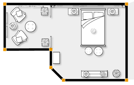 Foundation Dezin & Decor...: Bedroom layout with furniture ...