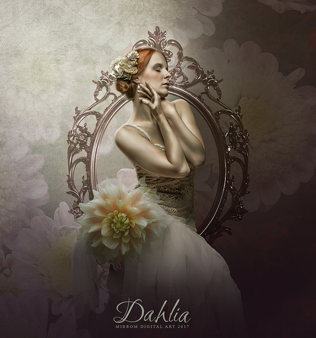 Create a Dahlia Digital Art Photo Manipulation Tutorial