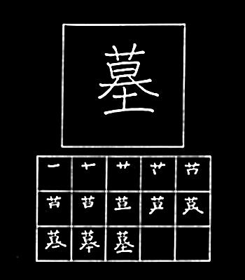 kanji grave