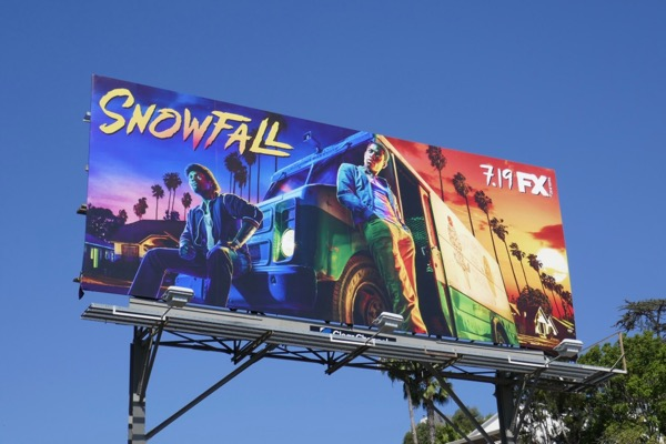 Snowfall season 2 FX billboard