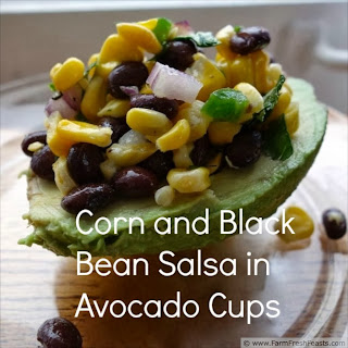 Corn and Black Bean Salsa in Avocado Cups | Farm Fresh Feasts