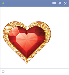 Heart shaped diamond for Facebook