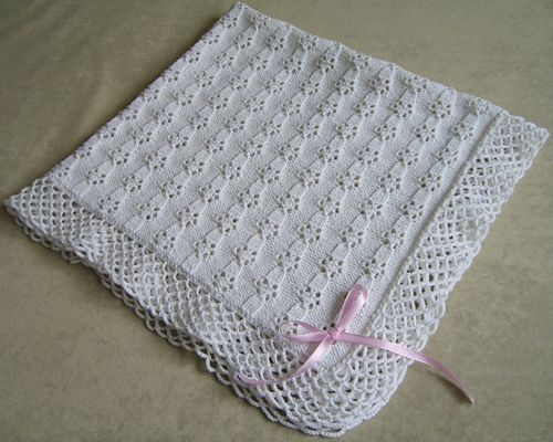 Lace Baby Blanket - Free Pattern