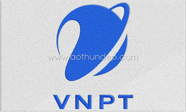VNPT computerized embroidery logo
