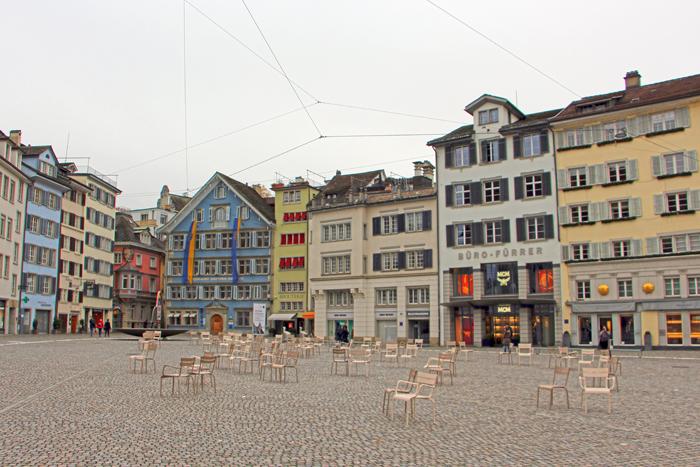 Platz in der Zürcher Altstadt