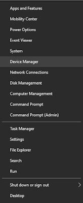 membuka device manager
