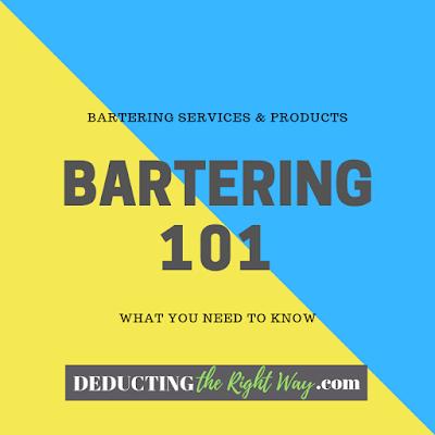 Business bartering | www.deductingtherightway.com