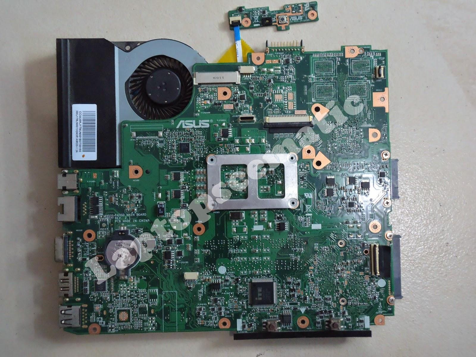Motherboard Asus A43e Board Code K43sd Rev 2 1