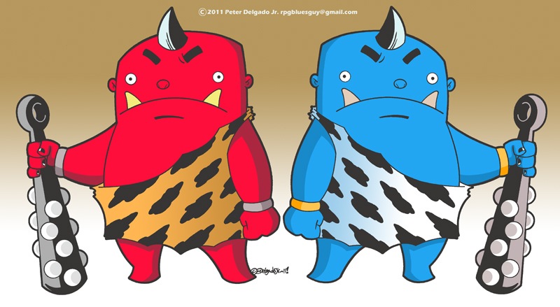 Red And Blue Oni