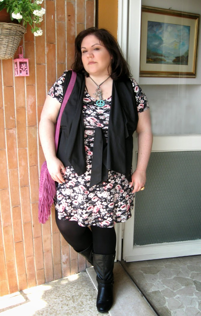 020eed13980 Plus Size Outfit  Festival look featuring multidrape vest
