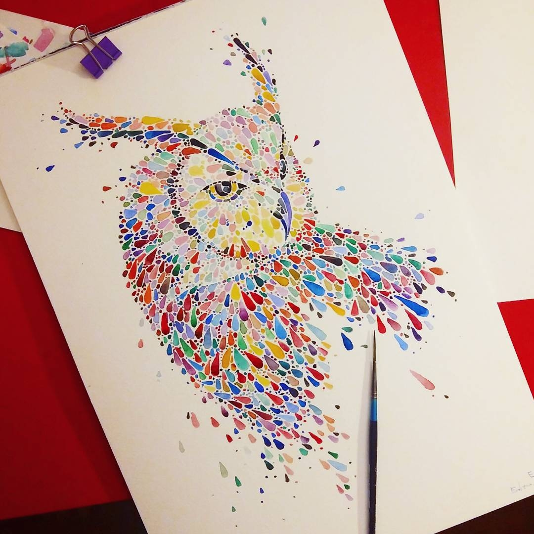 15-Owl-Ana-Enshina-anaensh-Dot-and-Circle-Animal-Paintings-Ishihara-Test-www-designstack-co
