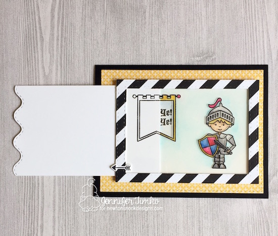 Knight in Armor Magic Slider card by Jennifer Timko | Knight's Quest Stamp Set by Newton's Nook Designs #newtonsnook #handmade #knight