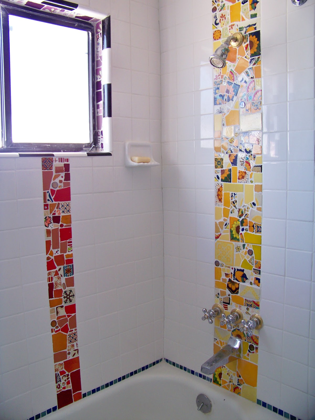 DIY Mosaic Bathroom Tile