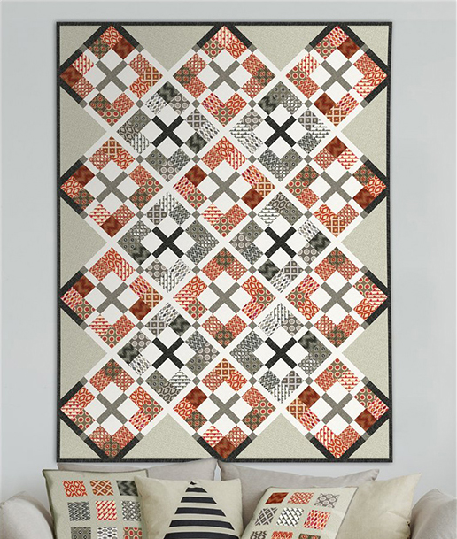 Mini Ikats Quilt Free Pattern designed by Jason Yenter for In the Beginning Fabrics