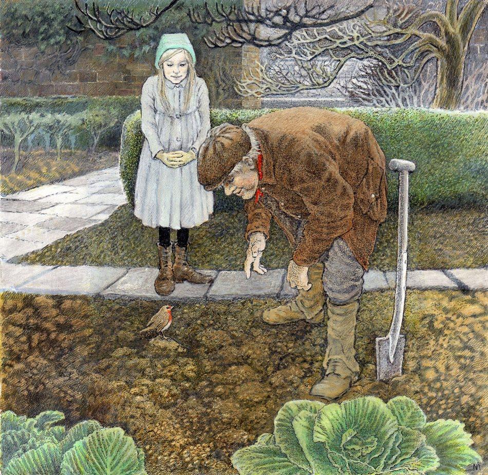 Secret Garden: çizgili Masallar: The Secret Garden By Inga Moore Part 1