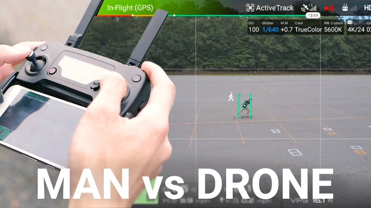 Man vs. Drone: How Good Are DJI's Intelligent Flight Modes?