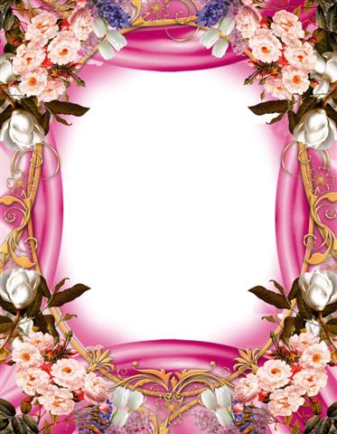 Marco con estilo floral para enmarcar digitalmente tus fotos
