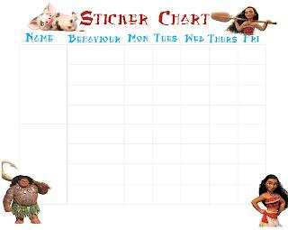 Minions sticker charts