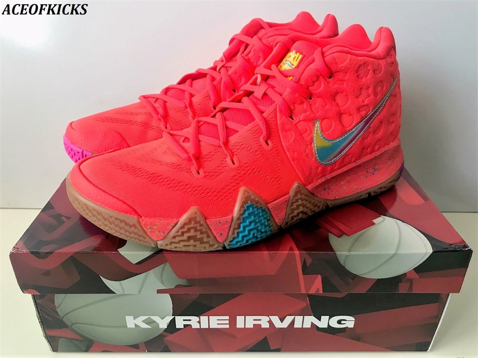 684c04a0a382 This Must Be The Place   Nike Kyrie 4 IV Lucky Charms US SZ 10.5 ...