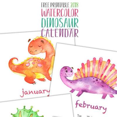 2018 dinosaur calendar