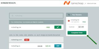 Domain .ME gratis dari NameCheap dengan menggunakan email edu