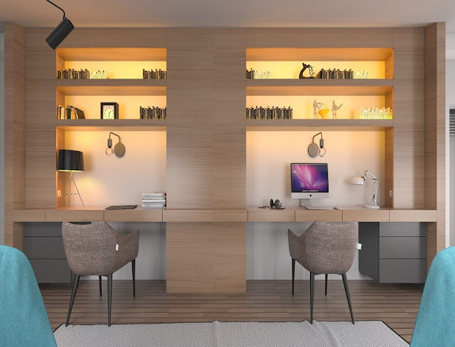 best buy modern home office desk ideas for two with lighting ideas