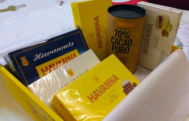 caja de alfajores y copitos Havanna