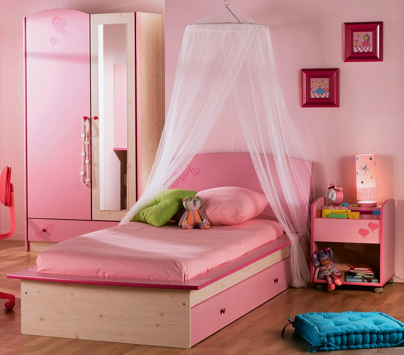 Quartos de menina em tons rosa decora o e ideias for Recamaras rosas
