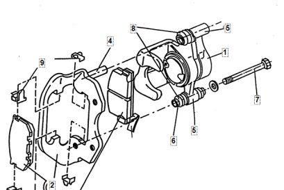 Komponen Rem Cakram Dengan Kaliper Luncur (Toyota)