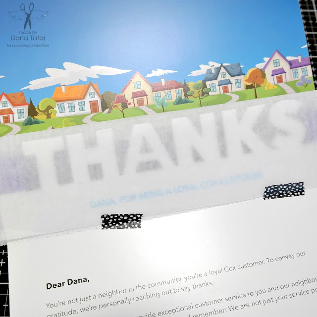 Junk Mail Pop Up Thank You Card Before Altering