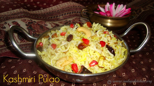 images of Kashmiri Pulao Recipe / Kashmiri Pulao Recipe - Saffron Rice With Fruits And Nuts