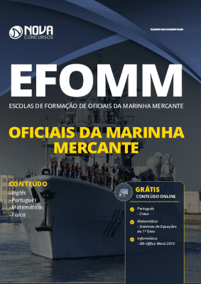 Apostila Concurso EFOMM 2020 Oficiais da Marinha Mercante Grátis Cursos Online