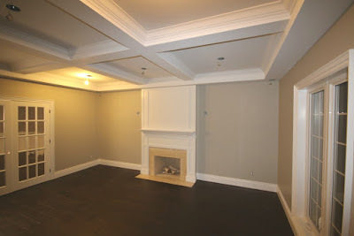 Toronto Living Room Coffered Ceiling