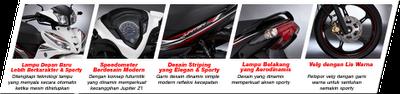 Desain Moderen Sepeda Motor Bebek Injeksi Kencang dan Irit Jupiter Z1
