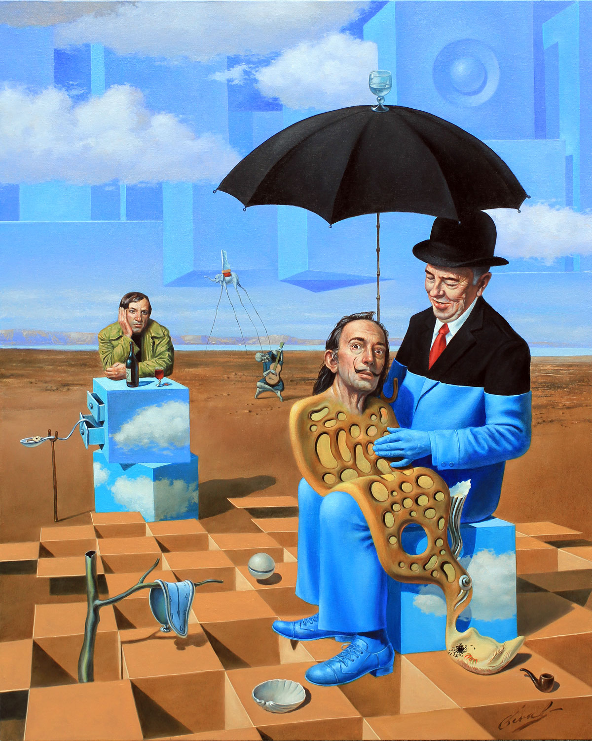 Michael Cheval Lullaby of Uncle Magritte