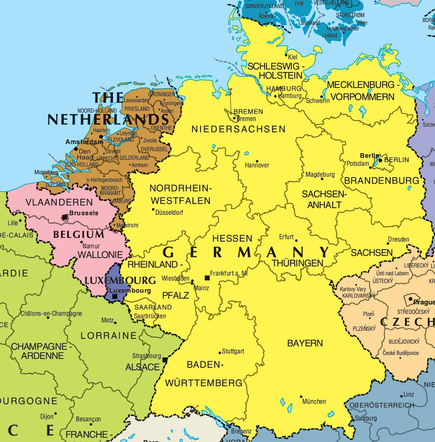 Mapa de Alemania Imagen | Mapa de Alemania Ciudades